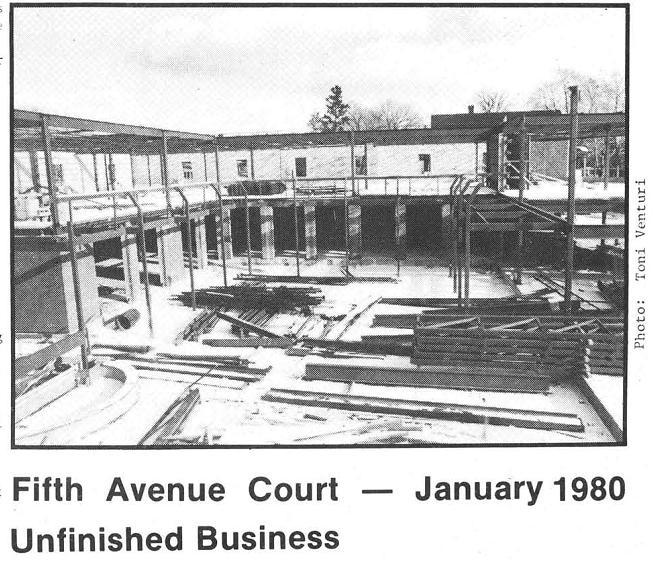 Fifth Ave. Court under construction