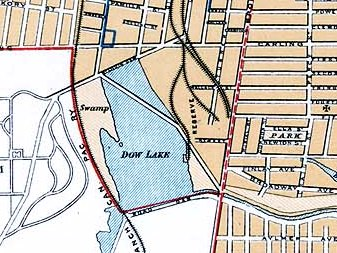 Cropped Map of Dow's Lake