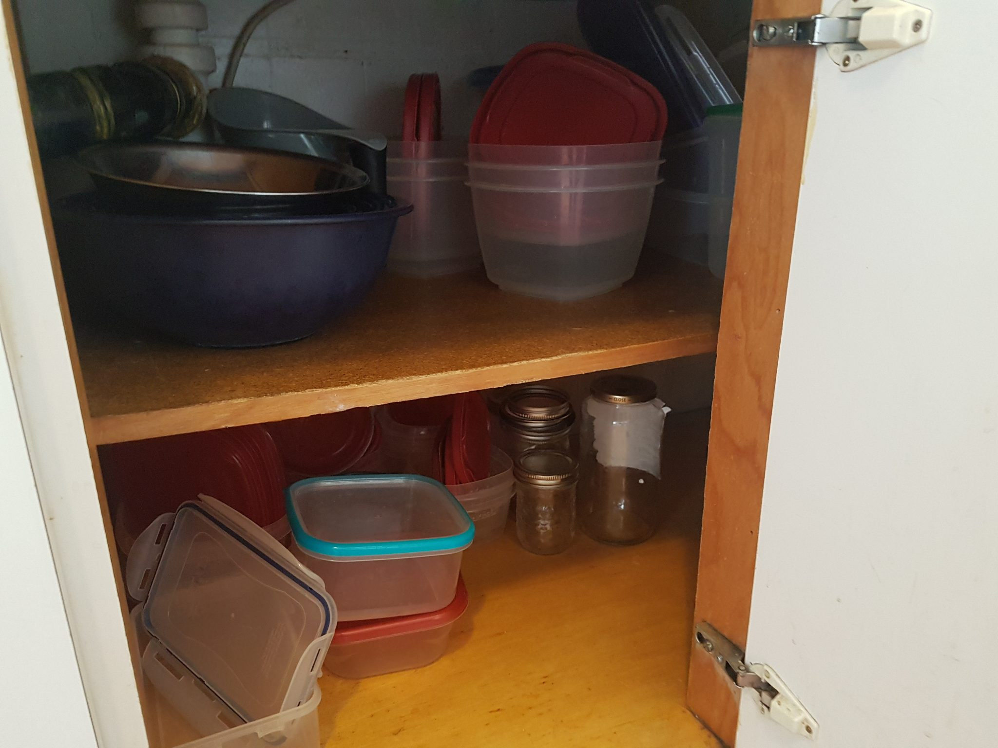 Organized container cupboard